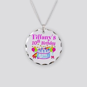 PERSONALIZED 10TH Necklace Circle Charm