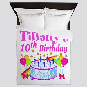 PERSONALIZED 10TH Queen Duvet