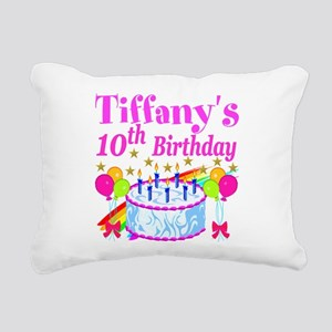 PERSONALIZED 10TH Rectangular Canvas Pillow