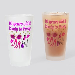 PERSONALIZED 10TH Drinking Glass