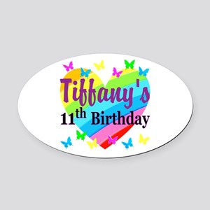 PERSONALIZED 11TH Oval Car Magnet