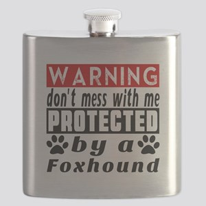 Protected By Foxhound Dog Flask