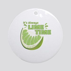 Lime Time Round Ornament
