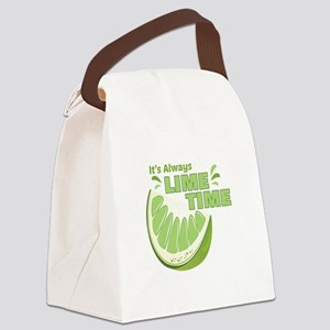 Lime Time Canvas Lunch Bag