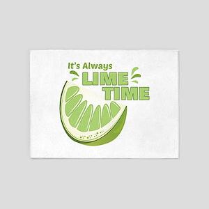 Lime Time 5'x7'Area Rug