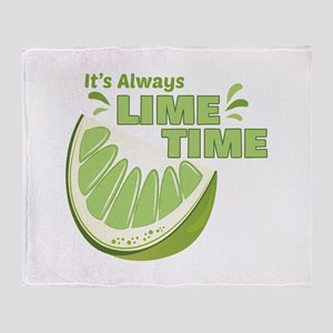 Lime Time Throw Blanket