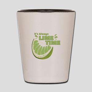 Lime Time Shot Glass