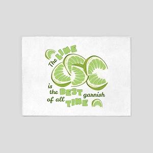 Lime Garnish 5'x7'Area Rug