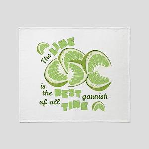 Lime Garnish Throw Blanket