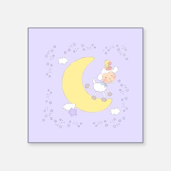 "Sweet Lamb on Cloud on Square Sticker 3"" x 3"""