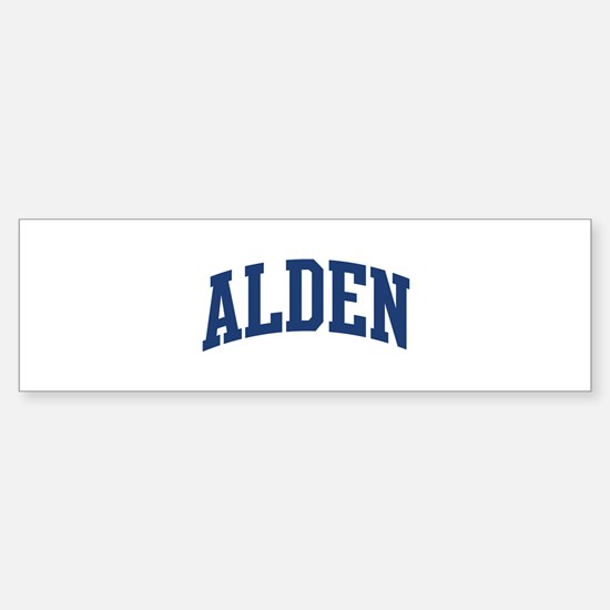 ALDEN design (blue) Bumper Bumper Bumper Sticker