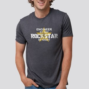 Engineer Rock Star by Night Women's Dark T-Shirt