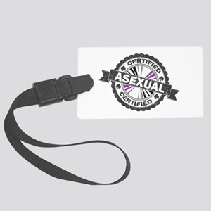 Certified Asexual Stamp Large Luggage Tag