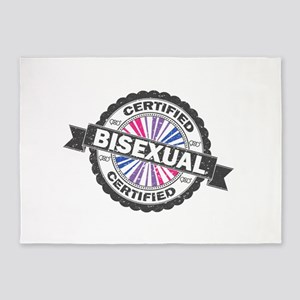 Certified Bisexual Stamp 5'x7'Area Rug