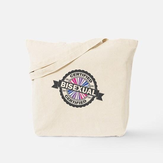 Certified Bisexual Stamp Tote Bag