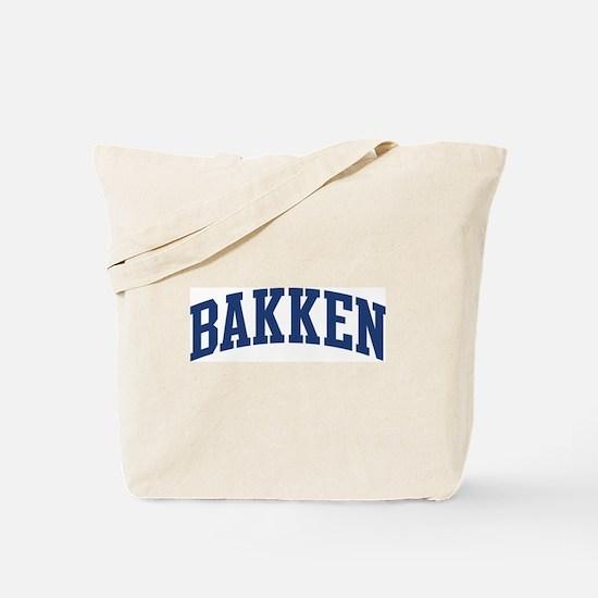 BAKKEN design (blue) Tote Bag