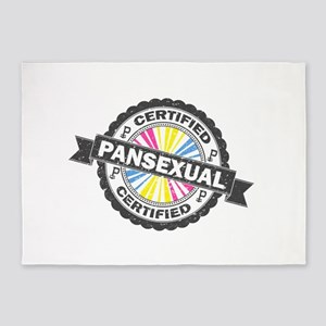 Certified Pansexual Stamp 5'x7'Area Rug
