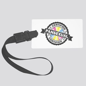 Certified Pansexual Stamp Large Luggage Tag