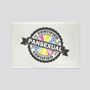 Certified Pansexual Stamp Rectangle Magnet