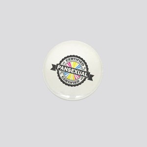 Certified Pansexual Stamp Mini Button