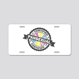 Certified Pansexual Stamp Aluminum License Plate