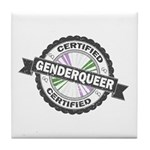 Certified Genderqueer Stamp Tile Coaster