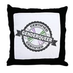Certified Genderqueer Stamp Throw Pillow