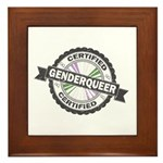 Certified Genderqueer Stamp Framed Tile