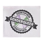 Certified Genderqueer Stamp Throw Blanket