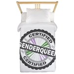 Certified Genderqueer Stamp Twin Duvet