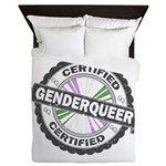 Certified Genderqueer Stamp Queen Duvet