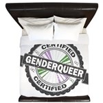 Certified Genderqueer Stamp King Duvet