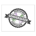 Certified Genderqueer Stamp Small Poster