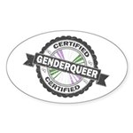 Certified Genderqueer Stamp Sticker (Oval 10 pk)