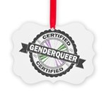 Certified Genderqueer Stamp Picture Ornament
