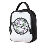 Certified Genderqueer Stamp Neoprene Lunch Bag