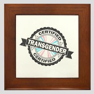 Certified Transgender Stamp Framed Tile