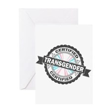 Certified Transgender Stamp Greeting Card