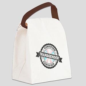 Certified Transgender Stamp Canvas Lunch Bag