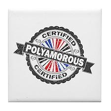 Certified Polyamory Stamp Tile Coaster