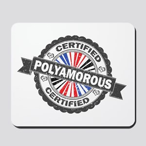 Certified Polyamory Stamp Mousepad