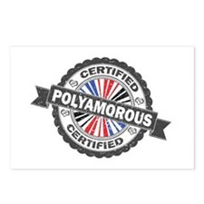 Certified Polyamory Stamp Postcards (Package of 8)