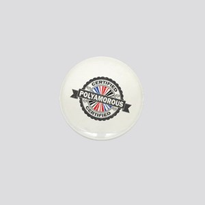 Certified Polyamory Stamp Mini Button