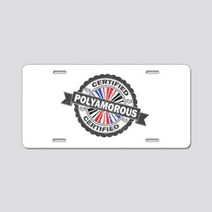 Certified Polyamory Stamp Aluminum License Plate
