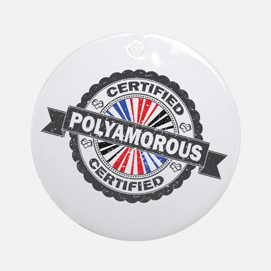 Certified Polyamory Stamp Round Ornament