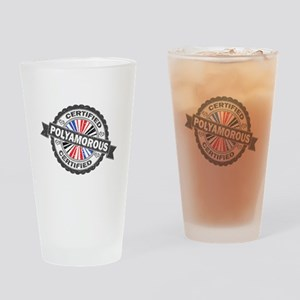 Certified Polyamory Stamp Drinking Glass