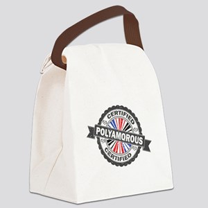 Certified Polyamory Stamp Canvas Lunch Bag