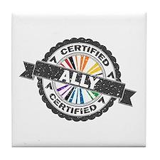 Certified LGBT Ally Stamp Tile Coaster