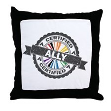 Certified LGBT Ally Stamp Throw Pillow