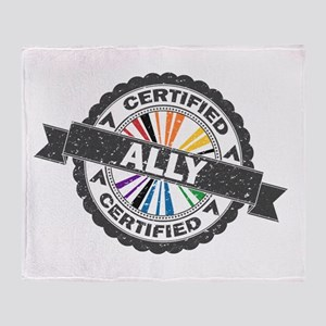 Certified LGBT Ally Stamp Throw Blanket